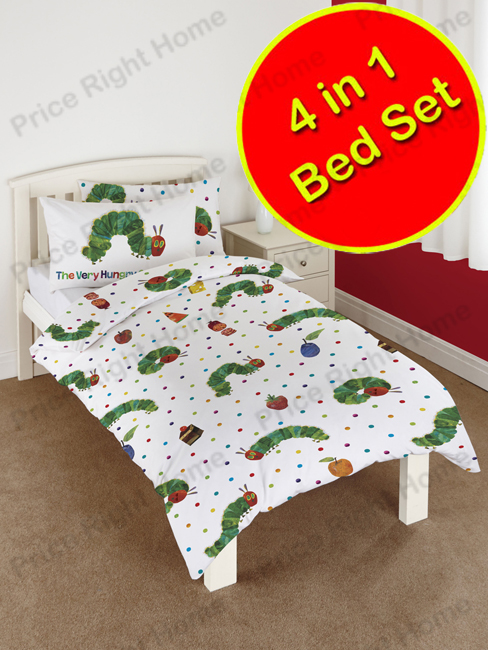 the very hungry caterpillar 4 in 1 junior bedding bundle (duvet +