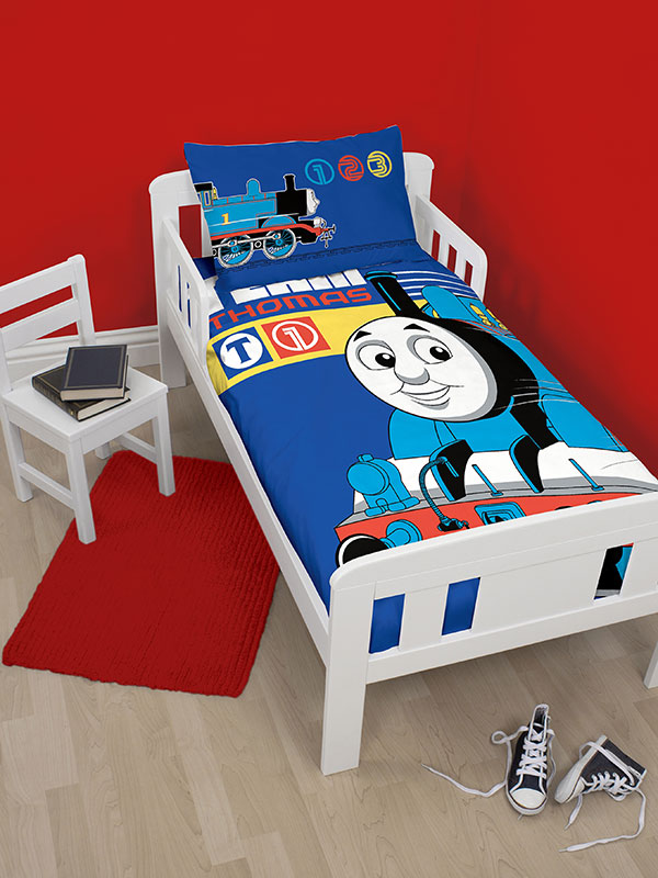 thomas the tank engine team junior toddler duvet cover and pillowcase