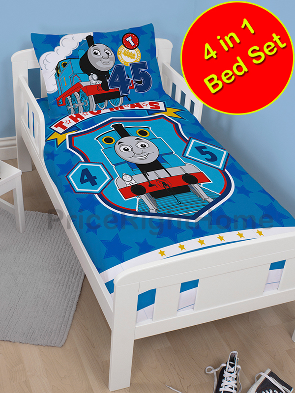 thomas and friends patch 4 in 1 junior bedding bundle (duvet + pillow