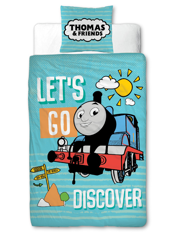 Thomas    Friends Discover 4 in 1 Junior Bedding Bundle Set (Duvet,