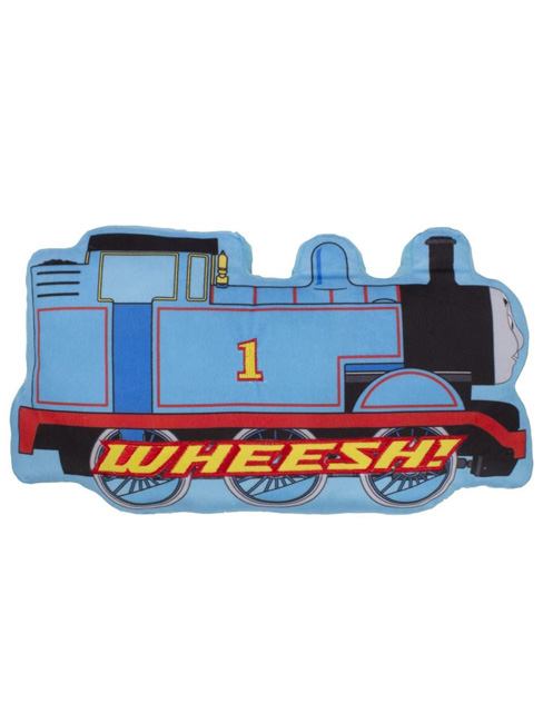 thomas and friends wheesh embroidered shaped cushion
