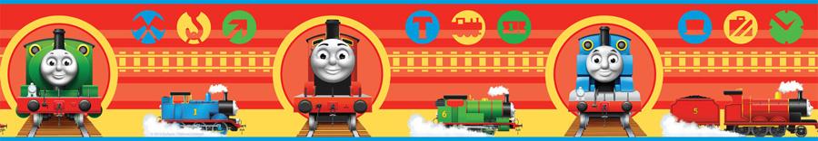 Thomas the Tank Engine No1 Self-Adhesive Wallpaper Border - 4 inch