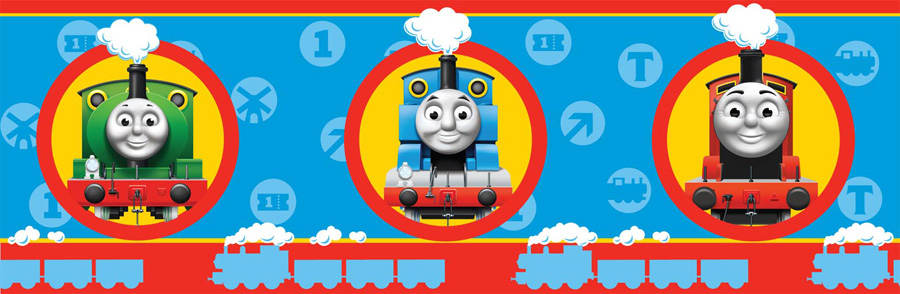 Thomas the Tank Engine No1 Wallpaper Border - 7 inch