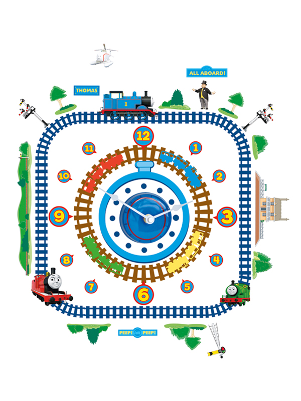 Thomas the Tank Engine Tick Tock Clock and Wall Stickers