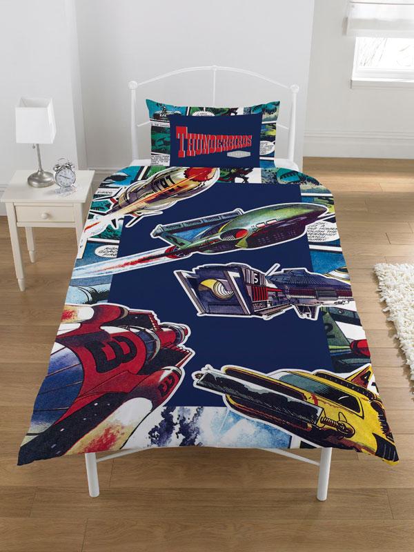 Thunderbirds Single Duvet Cover and Pillowcase Set