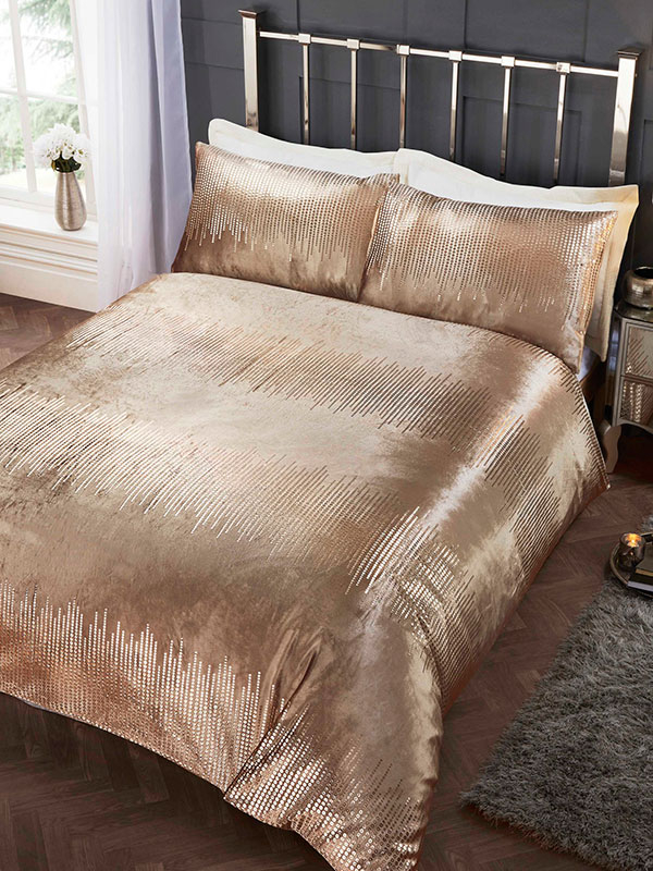 Tiffany Gold King Duvet Cover and Pillowcase Set