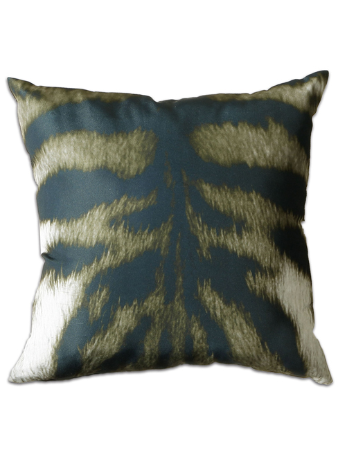 tiger print filled cushion