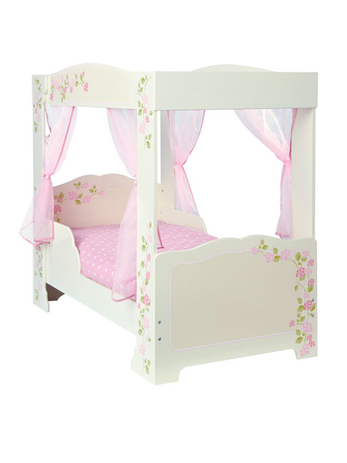 Rose 4 Poster Toddler Bed and Fully Sprung Mattress