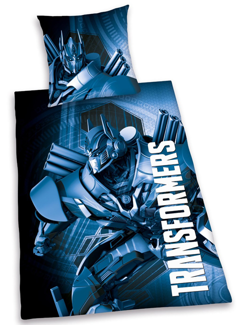 Transformers Cotton Single Duvet Cover & Pillowcase Set - Blue