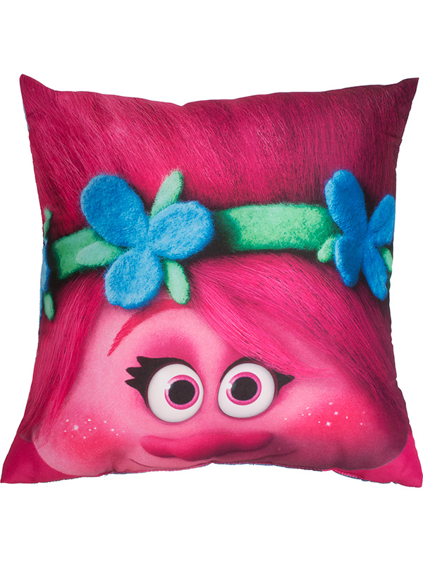 trolls glow reversible cushion