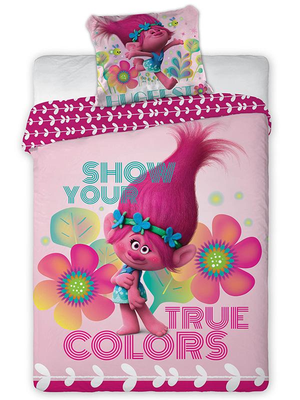 Trolls Poppy Single Cotton Duvet Cover and Pillowcase Set