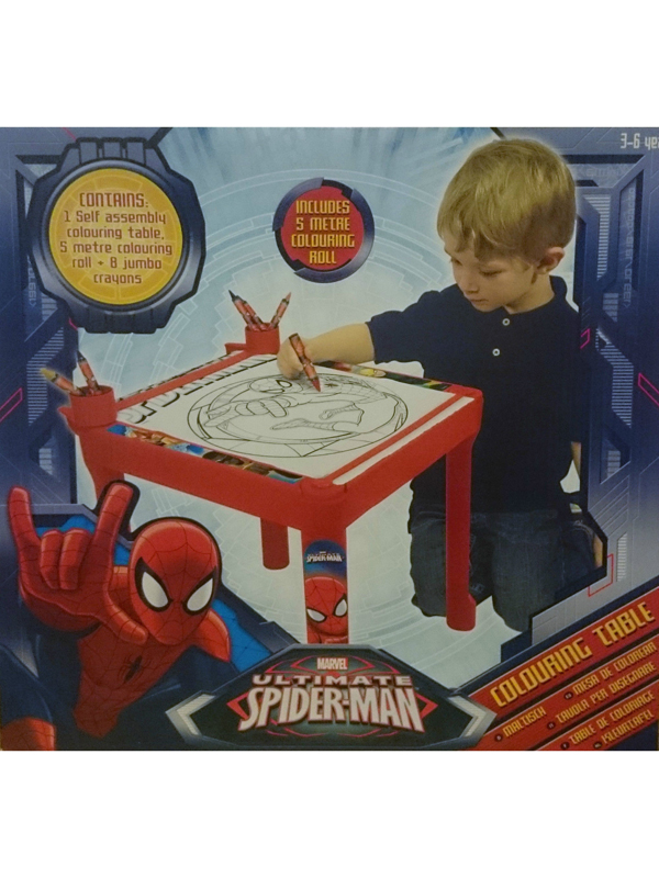 Price Right Home Ultimate Spiderman Colouring Table