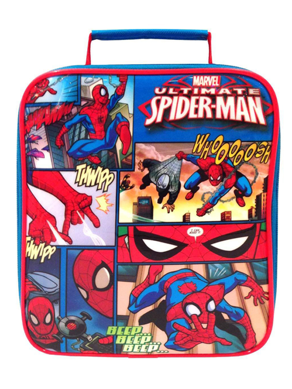 Price Right Home Ultimate Spiderman Comic Strip Lunch Bag
