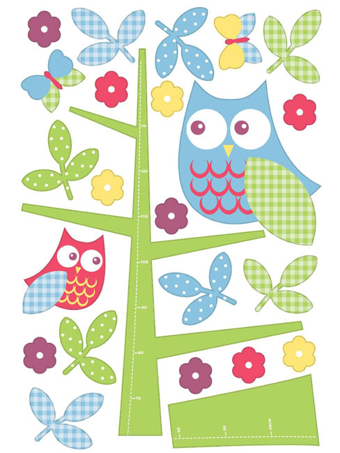 Wallpops Owl in the Tree Growth Chart Wall Sticker
