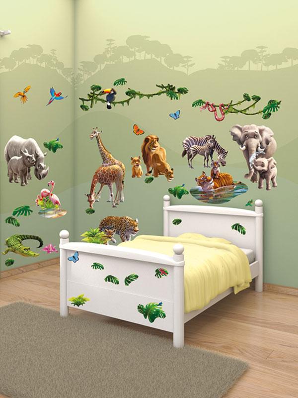 walltastic jungle adventure room decor wall sticker kit