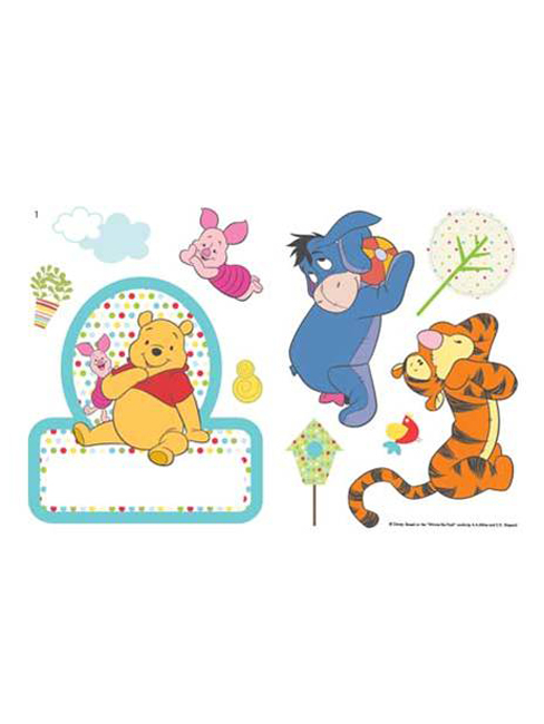 Winnie the Pooh Name Plate Wall Stickers